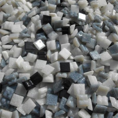 glasmosaik grau mix 10x10mm