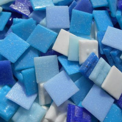 Blau mix Glasmosaik 20x20mm