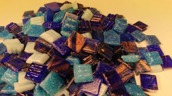 Mini Mosaik Blau Mix